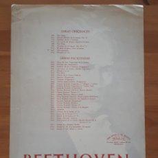 Libros de segunda mano: PARTITURA SEIS ESCOCESAS. BEETHOVEN.. Lote 198956071