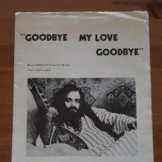 Libros de segunda mano: PARTITURA PARA GUITARRA PARTITURA GOODBYE MY LOVE, GOODBYE. DEMIS ROUSSOS.. Lote 198956751