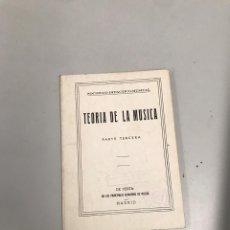 Libros de segunda mano: TEORÍA DE LA MÚSICA. Lote 201180646