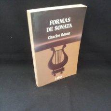 Libros de segunda mano: CHARLES ROSEN - FORMAS DE SONATA - EDITORIAL LABOR SEGUNDA EDICION 1994. Lote 207199707