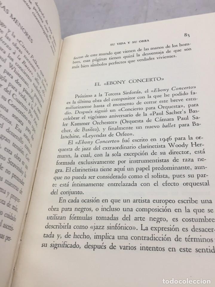 Libros de segunda mano: STRAVINSKY. FRANK ONNEN. EDITORIAL JUVENTUD . 1ª EDICION 1953 - Foto 5 - 208444238