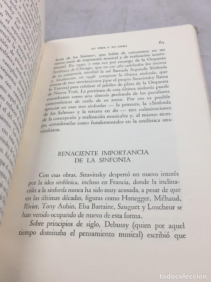 Libros de segunda mano: STRAVINSKY. FRANK ONNEN. EDITORIAL JUVENTUD . 1ª EDICION 1953 - Foto 7 - 208444238