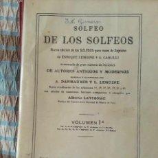 Libros de segunda mano: LIBROS SOLFEO DE LOS SOLFEOS 1A Y 1B. Lote 210578860