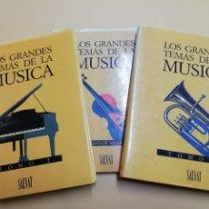 Libros de segunda mano: LOS GRANDES TEMAS DE LA MÚSICA. Lote 210740170