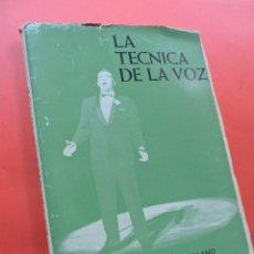 Libros de segunda mano: LA TÉCNICA DE LA VOZ. CARRILLO SEVILLANO, ÁNGEL. ED. EL PERPETUO SOCORRO. MADRID 1966.. Lote 211451700