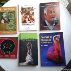 Libros de segunda mano: LOTE DE 6 LIBROS DE FLAMENCO. Lote 221302622