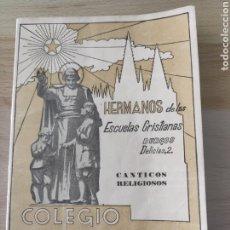 Libros de segunda mano: COLEGIO LA SALLE CANTICOS RELIGIOSOS BURGOS. Lote 213456126