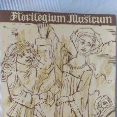 Libros de segunda mano: LEUCHTER E. - FLORILEGIUM MUSICUM (ANTOLOGIA DE EJEMPLOS MUSICALES DESDE LA ANTIGUEDAD AL CLASICISMO. Lote 220764670