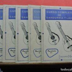 Libros de segunda mano: CURSO COMPLETO DE BANDURRIA Y LAUD. FASCÍCULOS II, III, IV, V Y VI. RODRÍGUEZ, T. EDICIONES MOZART.. Lote 221548090
