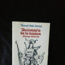 Libros de segunda mano: DICCIONARIO DE LA MÚSICA. Lote 222571051