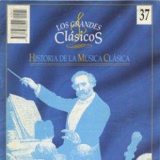 Libros de segunda mano: LOS GRANDES CLÁSICOS. HISTORIA DE LA MÚSICA CLÁSICA. Nº 37. EDICIONES DEL PRADO. 1994. PP. 169-180. Lote 222579453