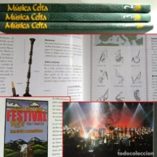 Libros de segunda mano: MÚSICA CELTA TOMO 1 2 3 OBRA CULTURA MUY ILUSTRADO GALICIA ESCOCIA IRLANDA HISTORIA INSTRUMENTOS RBA. Lote 222818070