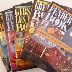Libros de segunda mano: 5 LIBROS HISTORIA GUITARRAS- BASS RICKENBACKER GIBSON GRETSCH FENDER BOOK--BALAFON IMP NUEVOS. Lote 223626310