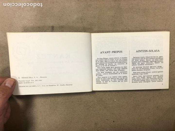 Libros de segunda mano: KANTUZ, RECUEIL DE 120 CHANSONS POPULAIRES BASQUES. PAUL ETCHEMENDY et PIERRE LAFITTE. ELKAR 1980. - Foto 3 - 224856485
