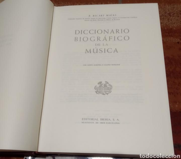 Libros de segunda mano: Diccionario biográfico de la música. Iberia 1986 - Foto 3 - 227276840