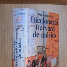Libri di seconda mano: DICCIONARIO HARVARD DE MÚSICA - VARIOS AUTORES. Lote 228022450