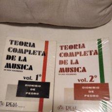 Libros de segunda mano: TEORÍA COMPLETA DE LA MÚSICA.. Lote 228356155