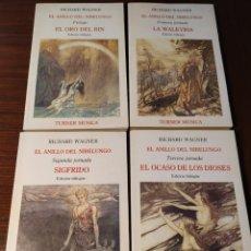 Libros de segunda mano: EL ANILLO DEL NIBELUNGO. TETRALOGÍA COMPLETA. RICHARD WAGNER. Lote 232786050