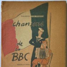 Libros de segunda mano: CHANSONS DE LA BBC. - VAN MOPPÈS, MAURICE.. Lote 233676755