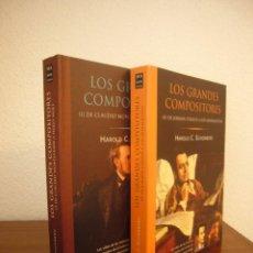 Libros de segunda mano: HAROLD C. SCHONBERG: LOS GRANDES COMPOSITORES. 2 VOLS. (MA NON TROPPO, 2004) EXCELENTE ESTADO. Lote 234556590