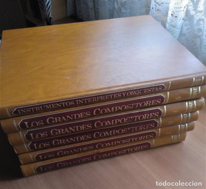 Libros de segunda mano: Los Grandes Compositores, 5 tomos + Instrumentos, Intérpretes y Orquestas, Salvat, 1983 - Foto 2 - 236801825