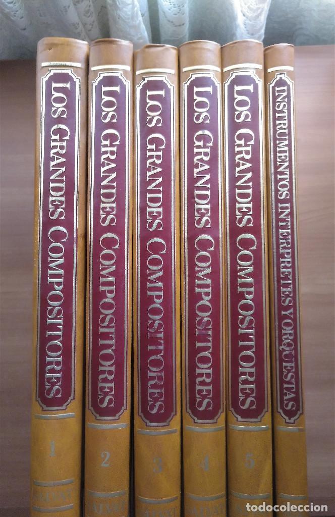 LOS GRANDES COMPOSITORES, 5 TOMOS + INSTRUMENTOS, INTÉRPRETES Y ORQUESTAS, SALVAT, 1983 (Libros de Segunda Mano - Bellas artes, ocio y coleccionismo - Música)