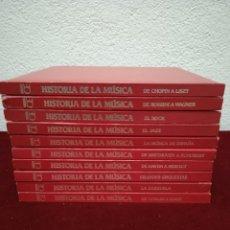 Libros de segunda mano: HISTORIA DE LA MÚSICA. EDITORIAL OCÉANO. 10 TOMOS. AÑO 1978.. Lote 240858125