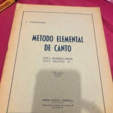 Libros de segunda mano: LIBRO MÉTODO ELEMENTAL DE CANTO J CONCONE APRENDER A CANTAR EJERCICIOS TÉCNICA PIANO OÍDO MUSICAL. Lote 243304355
