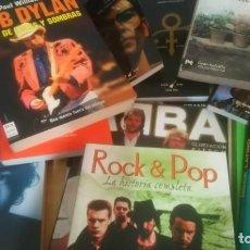 Libros de segunda mano: LOTE 15 LIBROS POP - ROCK, TANGO, FLAMENCO. DYLAN, BEATLES, SPRINGSTEEN, PRINCE, ABBA, ETC. Lote 244422340