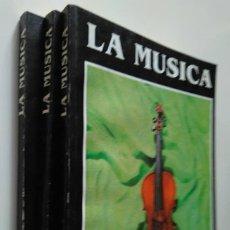 Libros de segunda mano: LA MÚSICA, ORIGEN, HISTORIA, FOLKLORE. TRES VOLÚMENES. CONOSUR, BUENOS AIRES, 1994. Lote 244849220