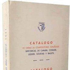 Libros de segunda mano: CATÁLOGO D COMPOSITORES ESPAÑOLES (O. SINFÓNICAS, DE CÁMARA, CORALES, LIEDERS, SOLISTAS, BALLETS. Lote 245004695