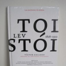 Libros de segunda mano: LOS ESCRITORES Y LA MÚSICA. LEV TOLSTÓI. VÍCTOR GALLEGO. CD CHAIKOVSKI, KÓRSAKOV, BEETHOVEN, CHOPIN.. Lote 245543075