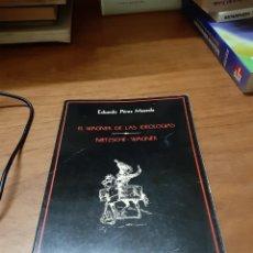 Libros de segunda mano: PÉREZ MASEDA EDUARDO, EL WAGNER DE LAS IDEOLOGÍAS. NIETZSCHE-WAGNER, MINISTERIO DE CULTURA, 1983. Lote 246137120