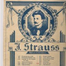 Libros de segunda mano: PARTITURA. J. STRAUSS. VALSES CÉLEBRES. CASA EDITORIAL DE MÚSICA BOILEAU. (T/19). Lote 246291505