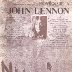 Libros de segunda mano: VV. AA. . HOMENAJE A JOHN LENNON . LA BANDA DE MOEBIUS. Lote 290131738