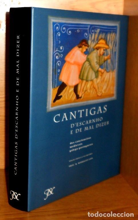 X119 - CANCIONEROS MEDIEVALES GALEGOS-PORTUGUESES. M. RODRIGUEZ LAPA. CANTIGAS. GALICIA. PORTUGAL. (Libros de Segunda Mano - Bellas artes, ocio y coleccionismo - Música)