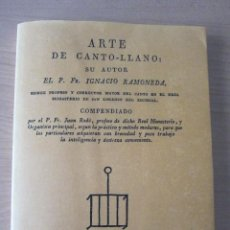 Libros de segunda mano: ARTE DE CANTO LLANO (FACSÍMIL). Lote 248439820