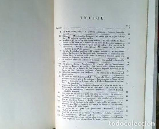 Libros de segunda mano: Héctor Berlioz : Mis memorias. (Buenos Aires, 1945. 1ª ed. 461 páginas. Música - Foto 2 - 255525725