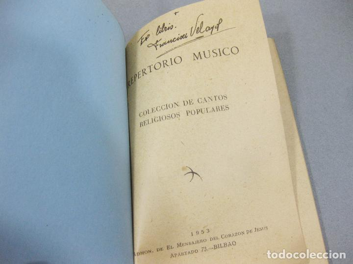 Libros de segunda mano: REPERTORIO MÚSICO. COLECCIÓN DE CANTOS RELIGIOSOS POPULARES. BILBAO 1953 - Foto 2 - 255960700