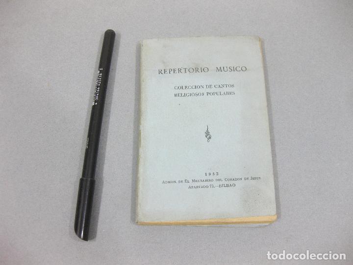 REPERTORIO MÚSICO. COLECCIÓN DE CANTOS RELIGIOSOS POPULARES. BILBAO 1953 (Libros de Segunda Mano - Bellas artes, ocio y coleccionismo - Música)