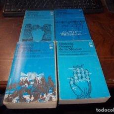Libros de segunda mano: HISTORIA GENERAL DE LA MÚSICA, 4 TOMOS DIRIGIDA A. ROBERTSON Y D. STEVENS. EDICIONES ISTMO. Lote 256060525