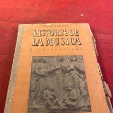 Libros de segunda mano: HISTORIA DE LA MÚSICA. Lote 261783955