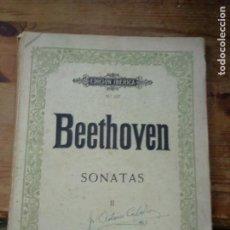 Libros de segunda mano: BEETHOVEN SONATAS II Nº 137. ART-924. Lote 262757015