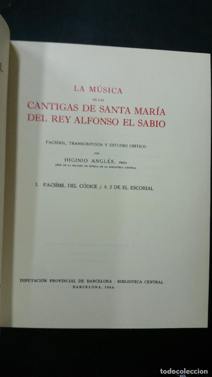 Libros de segunda mano: 1943 - HIGINIO ANGLÉS - La música de las Cantigas de Santa Maria del rey Alfonso el Sabio. 4 tomos - Foto 2 - 262808680