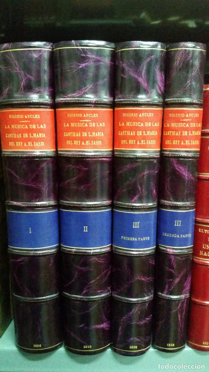 1943 - HIGINIO ANGLÉS - LA MÚSICA DE LAS CANTIGAS DE SANTA MARIA DEL REY ALFONSO EL SABIO. 4 TOMOS (Libros de Segunda Mano - Bellas artes, ocio y coleccionismo - Música)