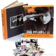 Libros de segunda mano: BOB DYLAN. EL ÁLBUM 1956-1966. LIBRO+ESTUCHE+CD+REGALO FILM. Lote 264125755