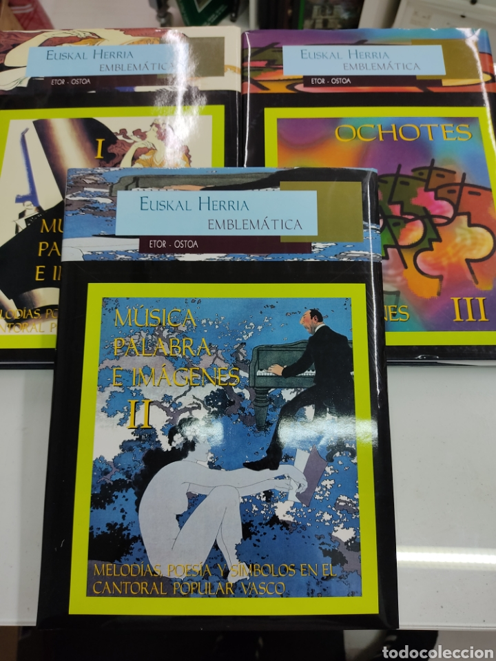 Libros de segunda mano: MUSICA PALABRAS E IMAGENES 3 TOMOS MELODIAS POESIA SIMBOLOS CANTORAL POPULAR VASCO OCHOTES ETOR NUEV - Foto 3 - 271069483