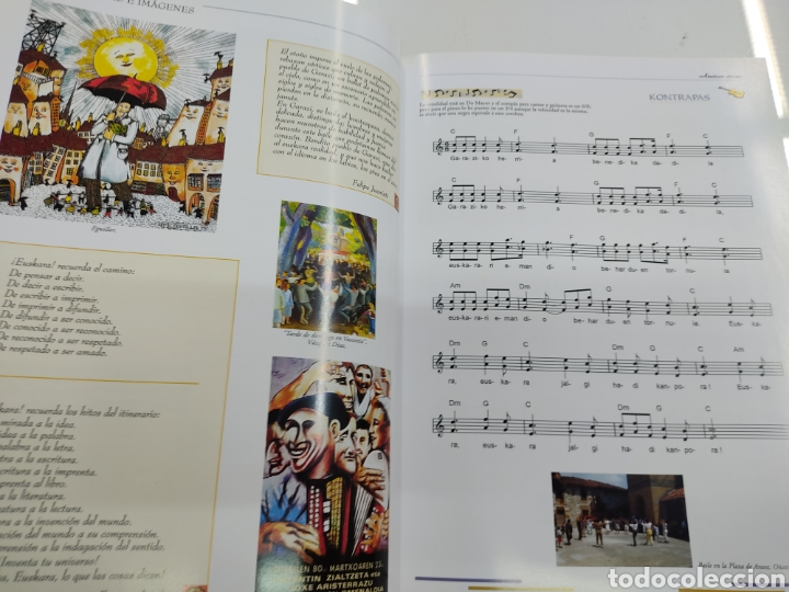 Libros de segunda mano: MUSICA PALABRAS E IMAGENES 3 TOMOS MELODIAS POESIA SIMBOLOS CANTORAL POPULAR VASCO OCHOTES ETOR NUEV - Foto 7 - 271069483