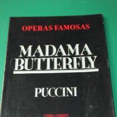 Livres d'occasion: LIBRETO MADAMA BUTTERFLY DE PUCCINI. Lote 276263748