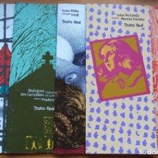 Libros de segunda mano: 38 PROGRAMAS DE ÓPERAS (SIN LIBRETO) Y CONCIERTOS DEL TEATRO REAL DE DIFERENTES TEMPORADAS.. Lote 276713053